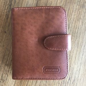 Coach Leather Wallet British Tan